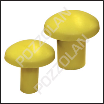 Yellow Mushroom rebar Safety Cap